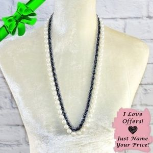 Jewelry - Faux Pearl & Chain Necklace ~0cd40s0sc7